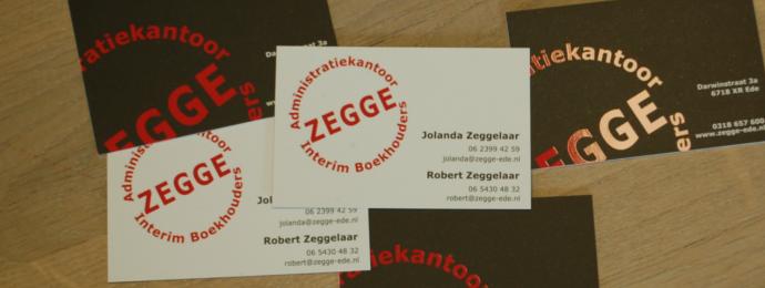 Visitekaartjes Administratiekantoor en boekhouders Zegge-Ede